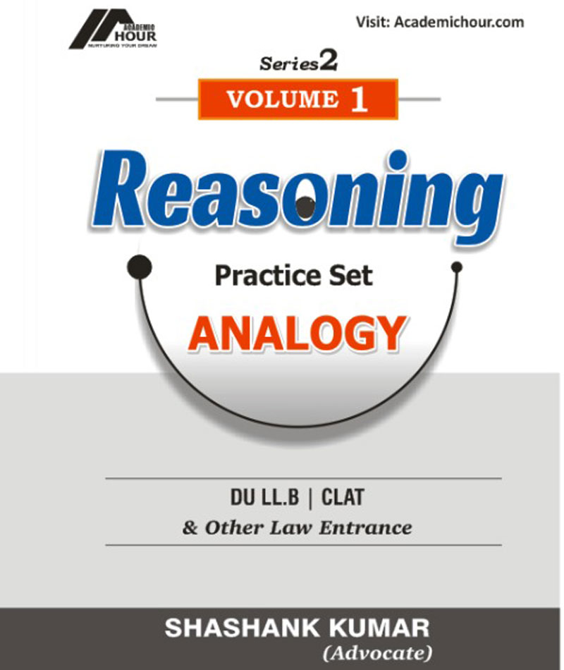 book reasoning analogy Vol 1 for du llb clat